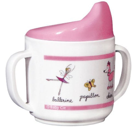Baby Cie Melamine Sippy Cup with French Words, Ballerine (Ballerina)