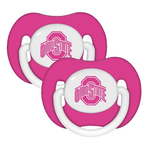 Baby Fanatic Pink Pacifier, Ohio State, 2-Count
