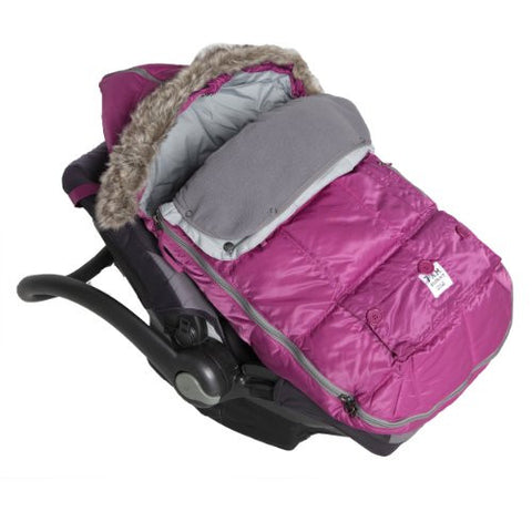7AM Enfant Le Sac Igloo Footmuff, Converts into a Single Panel Stroller and Car Seat Cover, Grape, Medium