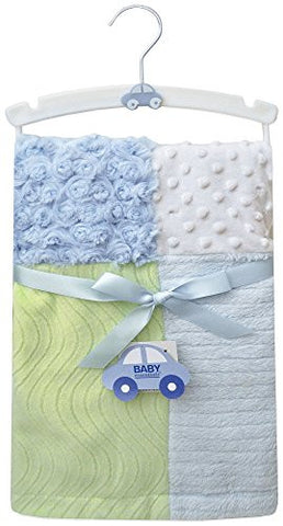 Baby Essentials Boys Patchwork Blanket One Size Blue multi