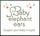 Baby Elephant Ears Head Support Pillow for Car Seat, Stroller, Swing, Bouncer, Changing Table (Zoology)