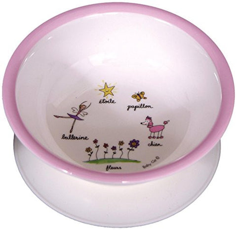 Baby Cie Ballerina-Pink Suction Bowl, Multicolor