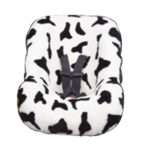 Ba Ba Seat Skins Universal Infant Seat Cover, White Cow and Black