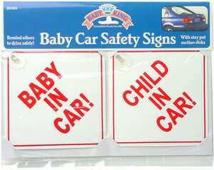 Baby Car Safety Signs