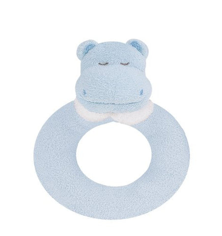 Angel Dear Ring Rattle, Blue Hippo