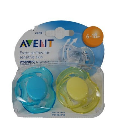 Avent Freeflow Pacifier - 6 - 18 Months -  2 Pk