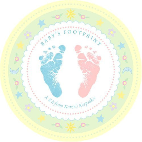 Baby's Footprint Kit, Lock of Hair and Lost Tooth Keepsakes