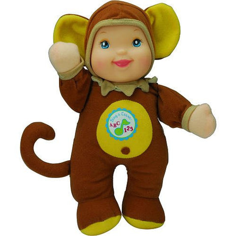 1 X Sing & Learn ABCs & 123s 11 inch Doll - Monkey Outfit by Golderger