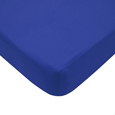 American Baby Company 100% Cotton Percale Fitted Crib Sheet, Royal