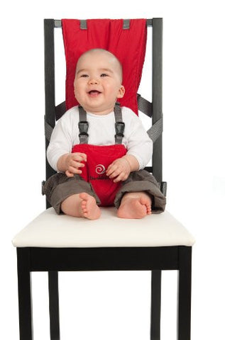 BambinOz Porta Chair Travel High Chair, Red
