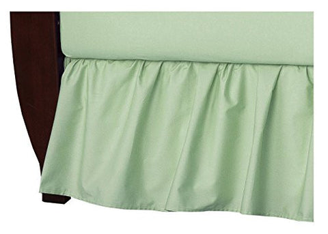 American Baby Company 100% Cotton Percale Ruffled Crib Skirt, Celery