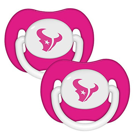 Baby Fanatic Pink Pacifier Houston Texans 2 Pk