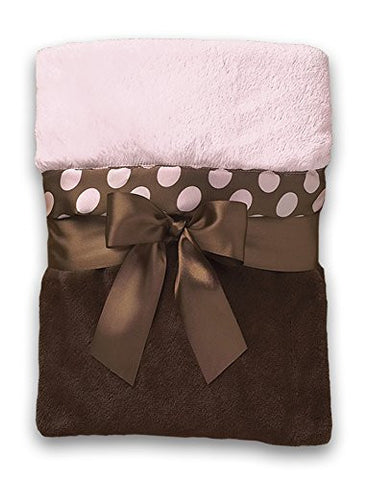 Bearington Baby Posh Dots Crib Blanket (Pink)