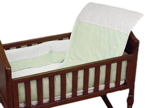 Baby Doll Bedding Kingdom Cradle Bedding Set, Sage