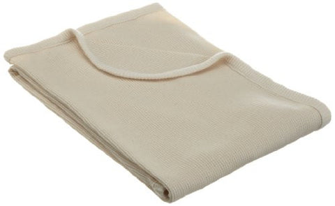 American Baby Company Thermal Swaddle Blanket made with Organic Cotton, Natural Color