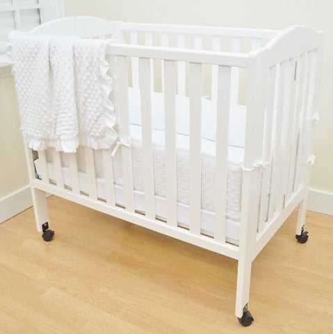 American Baby Company Heavenly Soft Minky Dot Chenille Portable/Mini Crib Bedding Set, White,3-Piece