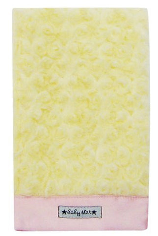 Baby Star Cotton Candy Diaper Burp - Yellow Pink