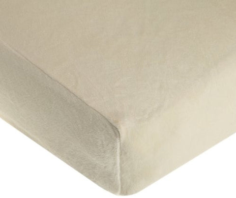American Baby Company Heavenly Soft Chenille Fitted Crib Sheet, Ecru