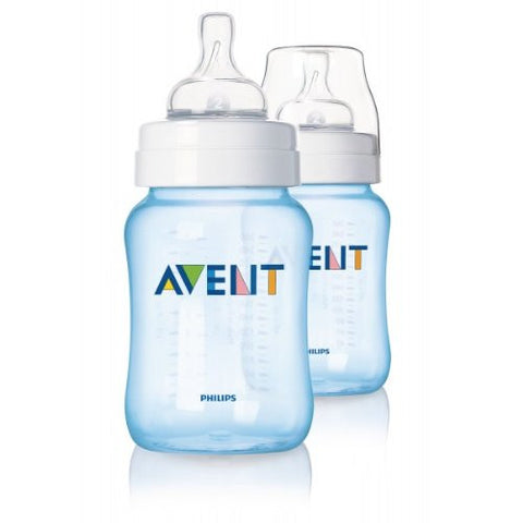 Avent Twin Bottle 260ml/9oz - Blue