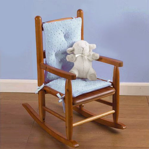 Baby Doll Bedding Heavenly Soft Child Rocking Chair Cushion Pad Set, Blue (Chair is not included with the product)
