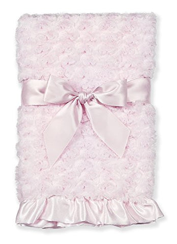 Bearington Baby Collection Plush Pink - small Swirly Snuggle Blanket