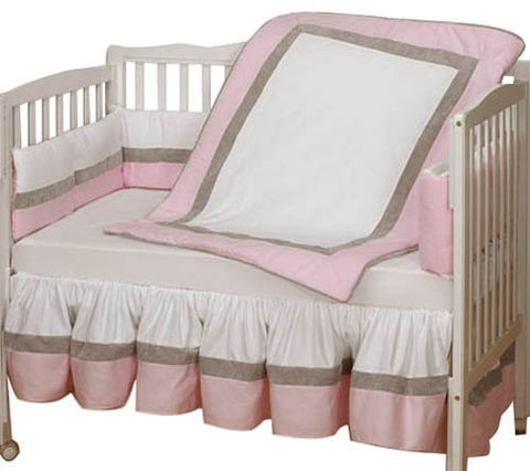 Baby Doll Bedding Classic II Cradle Bedding Set, Pink