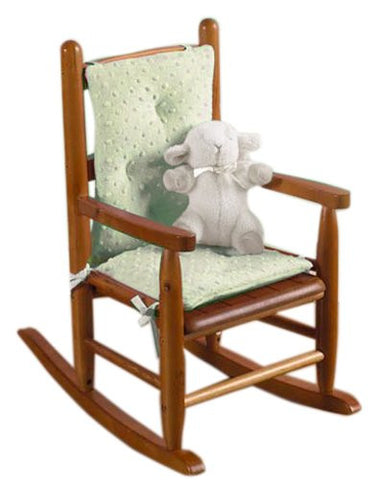 Baby Doll Bedding Heavenly Soft Child Rocking Chair Cushion Pad Set, Sage (Chair is not included with the product)