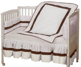 Baby Doll Bedding Classic Mini Crib/ Port-a-Crib Bedding Set, White