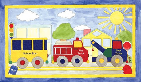 Art 4 Kids Big Drivin Mounted Art Print, 24x14