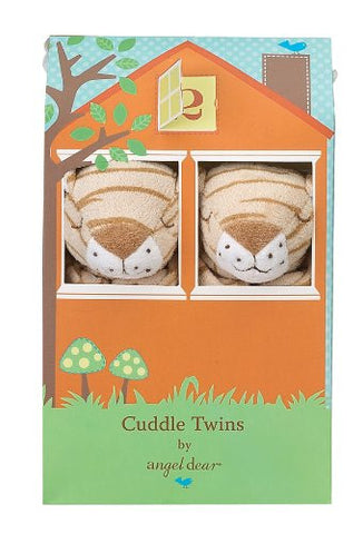 Angel Dear Cuddle Twin Set, Brown Tiger Stripe