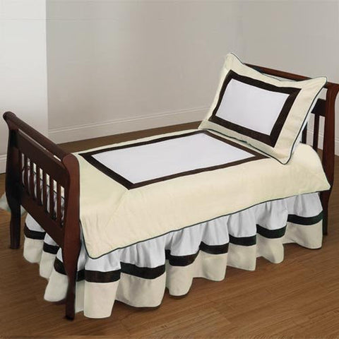 Baby Doll Bedding Classic Toddler Bedding Set, Ecru
