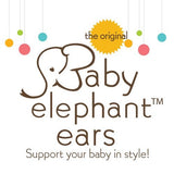 Baby Elephant Ears Head Support Pillow for Car Seat, Stroller, Swing, Bouncer, Changing Table (Grass Menagerie)