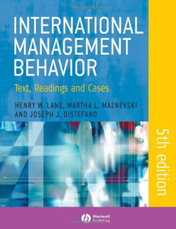 International Management Behavior: Text, Readings and Cases