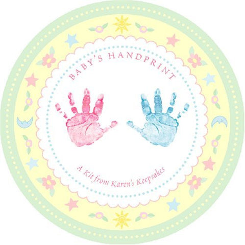 Baby's Handprint Kit and Lock of Hair Keepsake