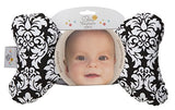 Baby Elephant Ears Head Support Pillow for Car Seat, Stroller, Swing, Bouncer, Changing Table (Black Dandy Damask)