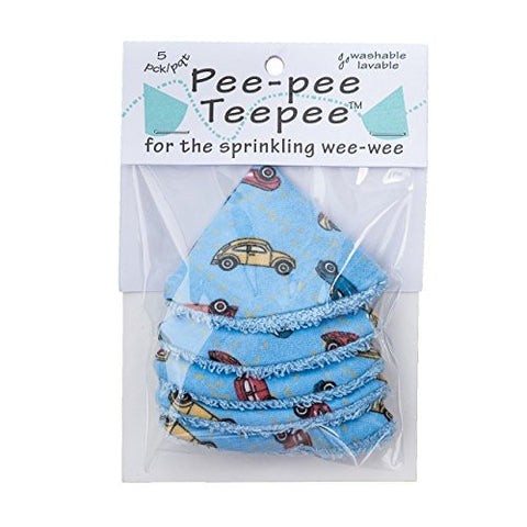 Beba Bean Pee-Pee Teepee Cellophane Bag Blue Cars