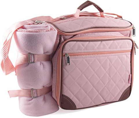 Baby Boo Pink Deluxe Insulated Diaper Bag