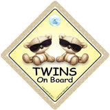 BABY iwantthatsign.com Twins On Board, Twins On Board Car Sign, Brown Shades, Baby On Board Car Signs, Twins Car Sign, Twins On Board Car Signs