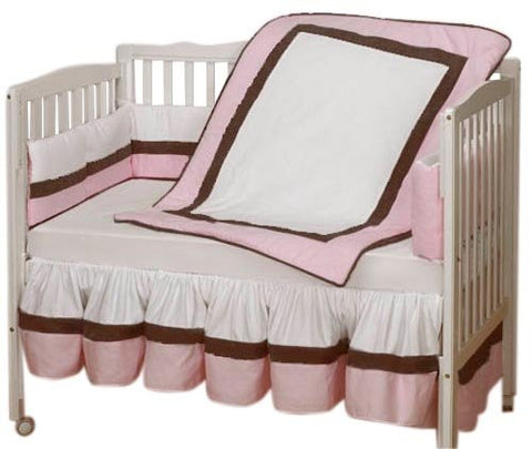 Baby Doll Bedding Classic Cradle Bedding Set, Pink