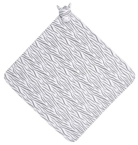 Angel Dear Napping Blanket, Grey Zebra