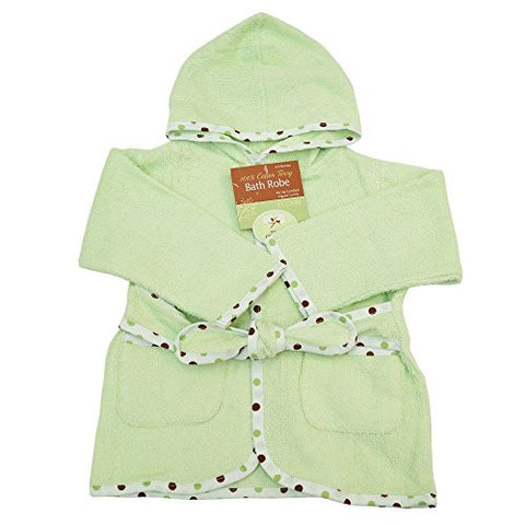 American Baby Company 0-9 Months Baby Bathrobe made with Organic Cotton, Celery