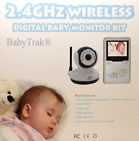 Best View Handheld Wireless 2.4 GHz Color Video Digital Baby Monitor with 2.4 Screen, IR Night Vision, 2 Way Talking, Zoom, and 360° Rotation