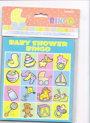 Baby Carriage Baby Shower Bingo , for 8 people