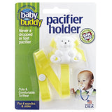 Baby Buddy Bear Pacifier Holder, Yellow
