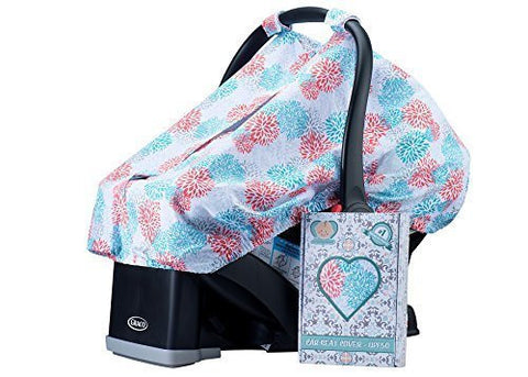 Baby Hearts UV Protective Baby Car Seat Cover, Lightweight, Nonslip Adjustable Handle Straps, Fits All Infant Car Seats, Best Baby Gifts, Protect Your Child Today