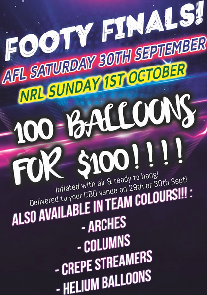 AFL & NRL Footy Finals