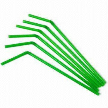 Plastic Drinking Straws Lime