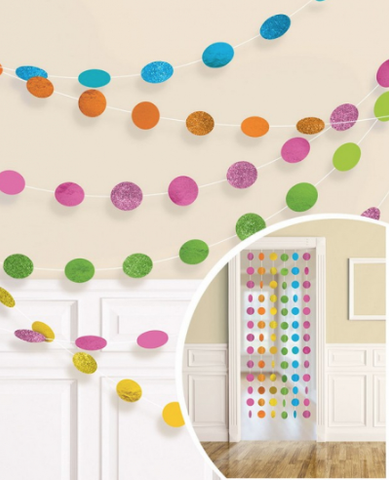 Hanging Dot Decorations Rainbow