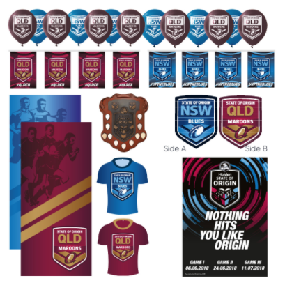 State Of Origin Series Display Kit QLD/NSW