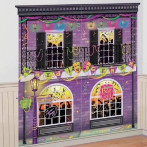 Scene Setter Wall Decorating Kit Mardi Gras